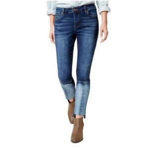 STS ankle patch blue jeans